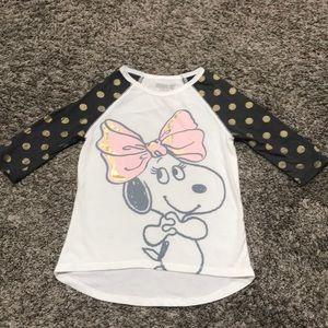 Peanuts 3/4 sleeve shirt